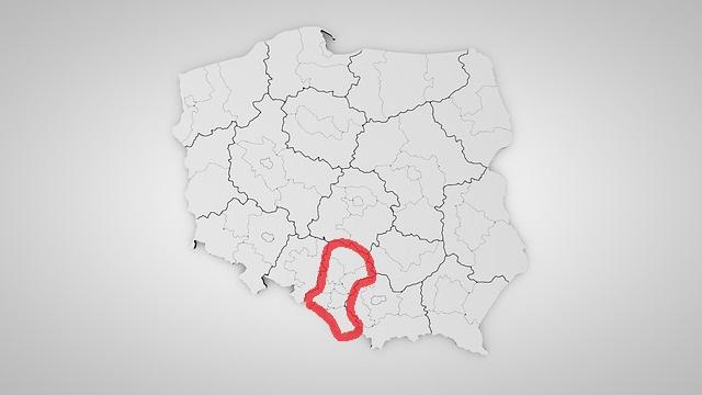 Mapa obszaru na którym jesteśmy w stanie wykonać dowolne markizy i pergole – działamy na terenie całego województwa Śląskiego